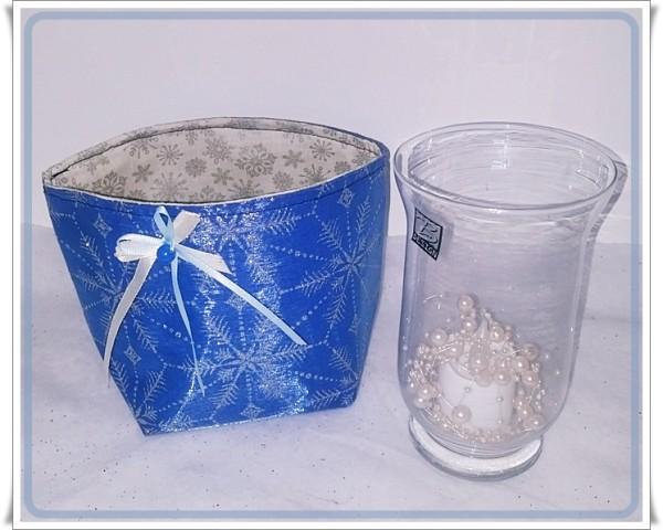 Untensilo Blau Organza mit silbernen Sternen