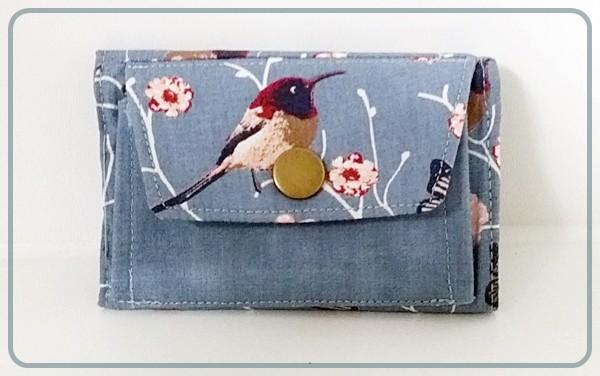 Kohle(n)pöttchen - Rauchblau mit Vögel und Blüten