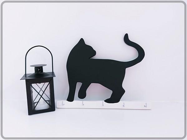 """Schlüsselbrettchen """"schwarze Katze"""""""