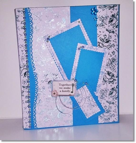 Fotoalbum Din A4 Blau Vintage