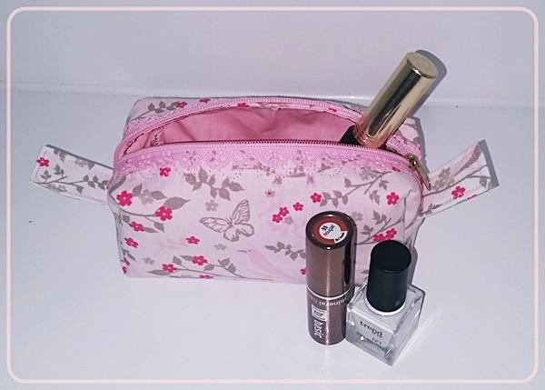"""Kosmetiktasche """"Schmetterlinge"""" in Rosa"""