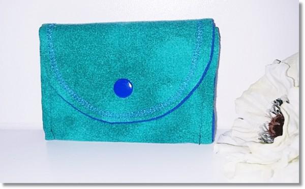 Mini Geldbörse Grün / Blau