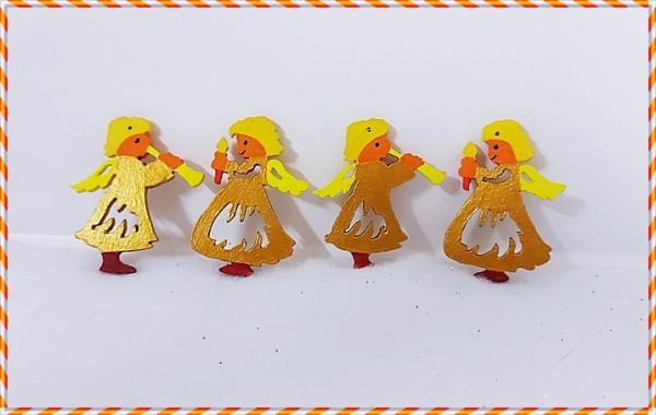 Goldene Engel 4er Set