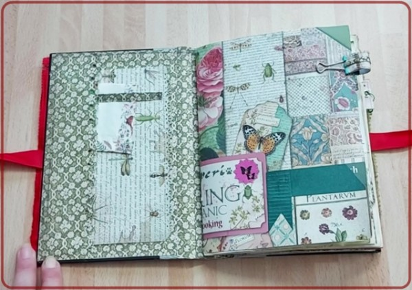 Junk Journel Blumen , Handmade