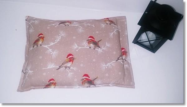 Wärmekissen mit Motiv Wintervögel