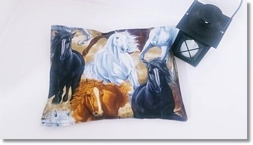 Wärmekissen mit Motiv Pferde im Galopp